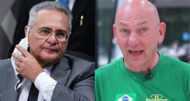 Renan Calheiros e Luciano Hang -  Foto: Jefferson Rudy/Agência Senado; Reprodução