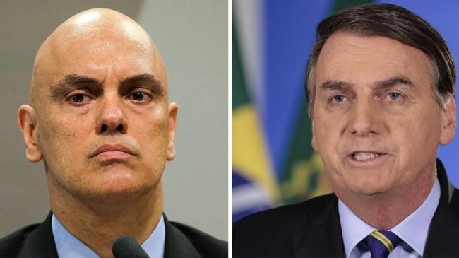 Alexandre de Moraes e Jair Bolsonaro - Foto: STF; Reprodução