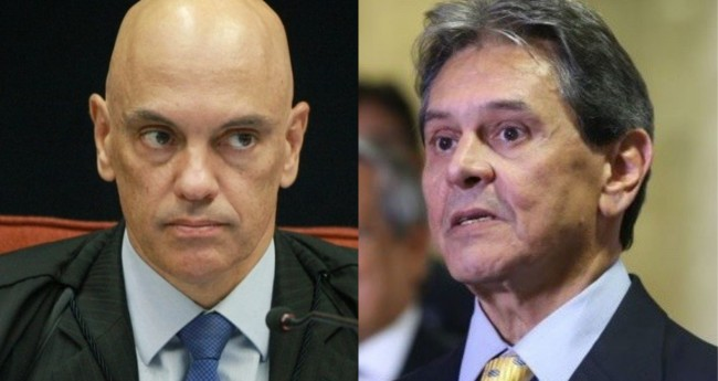Alexandre de Moraes e Roberto Jefferson - Foto: STF; Reprodução