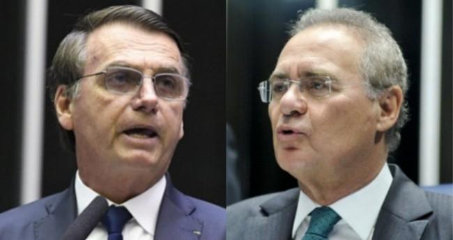 Jair Bolsonaro e Renan Calheiros - Foto: Edilson Rodrigues/Agência Senado; Geraldo Magela/Agência Senado