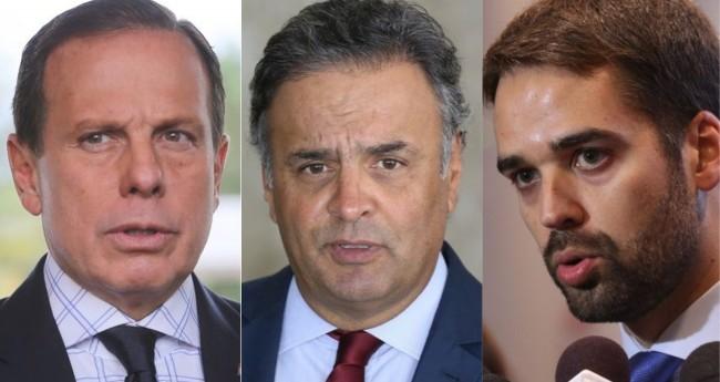 João Doria, Aécio Neves e Eduardo Leite - Foto: Agência Brasil