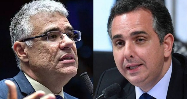 Eduardo Girão e Rodrigo Pacheco - Foto: Agência Senado