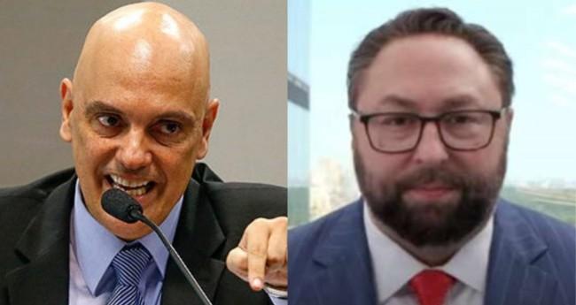 Alexandre de Moraes e Jason Miller - Foto: STF; Reprodução