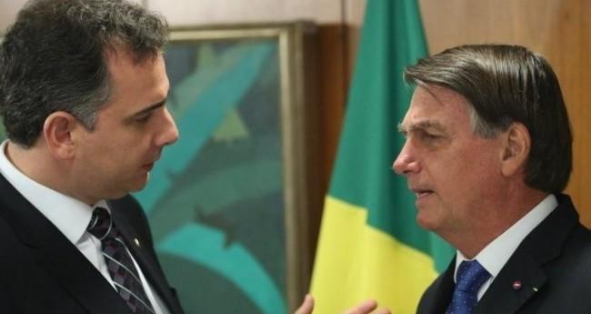 Rodrigo Pacheco e Jair Bolsonaro - Foto: Reprodução