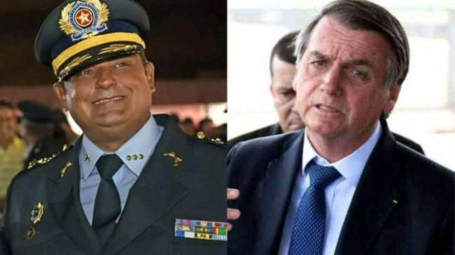 Fotomontagem: Coronel PM Rocha e Jair Bolsonaro
