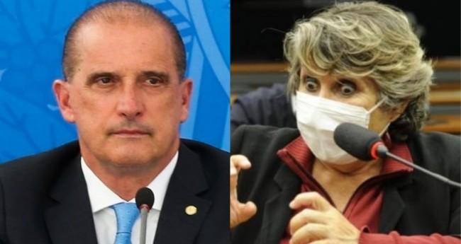 Onyx Lorenzoni e Erika Kokay – Foto: Marcello Casal Jr/Agência Brasil; Cleia Viana AG. Câmara