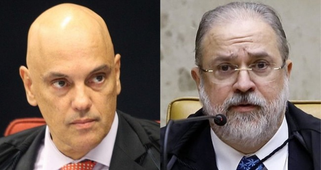 Alexandre de Moraes e Augusto Aras - Foto: STF; Reprodução