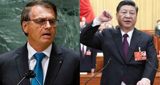 Jair Bolsonaro e Xi Jinping - Foto: Reprodução