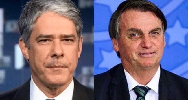 William Bonner e Jair Bolsonaro - Foto: Reprodução/ Agência Brasil