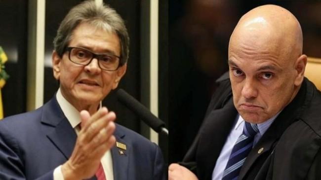 Roberto Jefferson e Alexandre de Moraes - Foto: Reprodução; STF