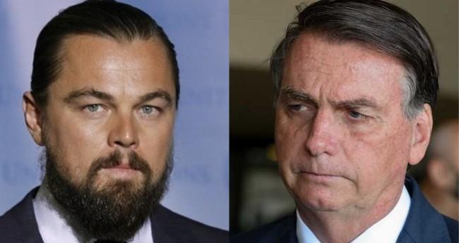 Leonardo DiCaprio e Jair Bolsonaro - Foto: Reprodução; PR