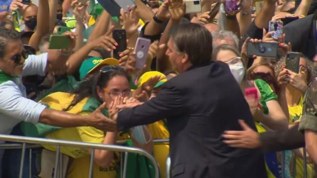 Jair Bolsonaro em BH - Foto: TV Globo
