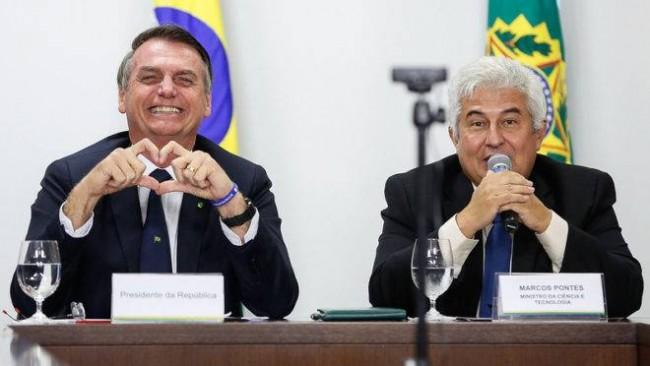 Jair Bolsonaro e Marcos Pontes - Foto: Carolina Antunes/PR