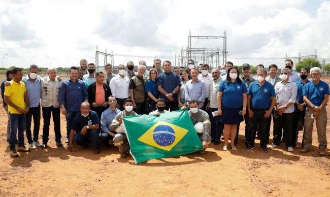 Presidente Bolsonaro anuncia obra que vai ligar Roraima ao sistema elétrico nacional - Crédito  Allan Santo/PR