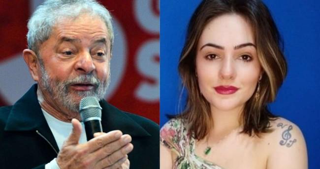 Lula e Carina Balomé - Foto: Antonio Cruz/Agência Brasil; Reprodução/Twitter