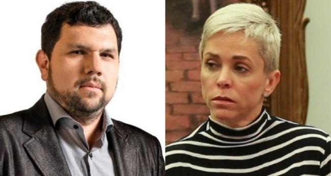 Oswaldo Eustáquio e Cristiane Brasil - Foto: Reprodução