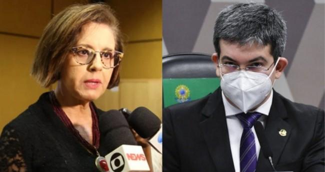 Juíza Elizabeth Machado Louro e Randolfe Rodrigues - Foto: Reprodução; Agência Senado