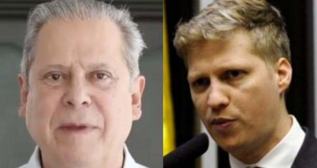 José Dirceu e Marcel van Hattem - Foto: Reprodução; Câmara