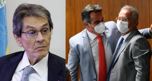 Roberto Jefferson, Ciro Nogueira e Renan Calheiros - Foto: PTB; Jefferson Rudy/Ag. Senado