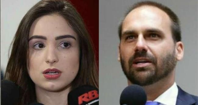 Patrícia Lélis e Eduardo Bolsonaro - Foto: Agência Brasil