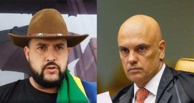 Zé Trovão e Alexandre de Moraes - Foto: Reprodução; STF