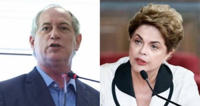 Ciro Gomes e Dilma Rousseff - Foto: Agência Brasil; PT